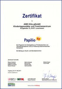 Papilio Zertifikat